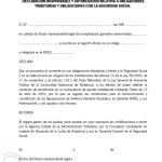 Declaración responsable y autorización relativa a obligaciones tributarias
