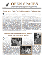 Spaces Newsletter – Winter 2001 (PDF)