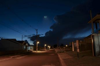 OVNI na cidade de Maringá, que teria aparecido na última quinta-feira (