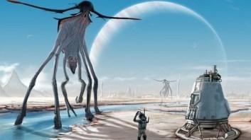 Possível vida extraterrestre. Top image: Xenobiology by Abiogenesis on DeviantArt
