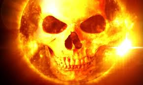 Talvez a erupção solar não seria tão devastadora, como sugere a ilustração acima, mas causaria muitos danos à infraestrutura eletroeletrônica da Terra.