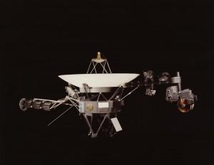 A sonda Voyager I.