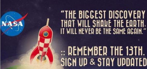A NASA estaria para anunciar algo importante? Provavelmente é uma manobra publicitária.