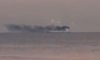 OVNIs sobre navio na costa da Califórnia