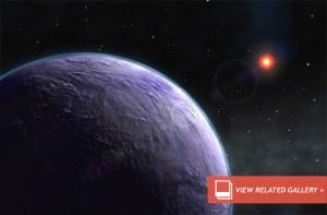 Planeta de cor violeta