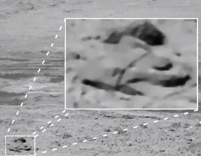 Nave alienígena em Marte, ou pareidolia