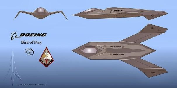 A nave 'Bird of Prey', da Boeing.