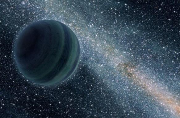Representação artística do possível 'Planeta X'.