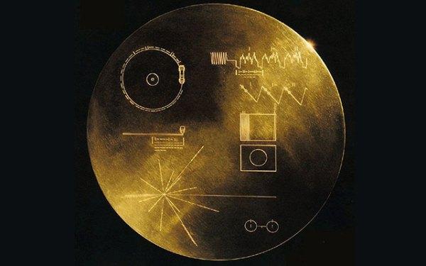 Disco enviado abordo das sondas Voyager da NASA, com informações sobre a nossa civilização.