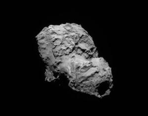 Vista frontal da nave, digo do cometa