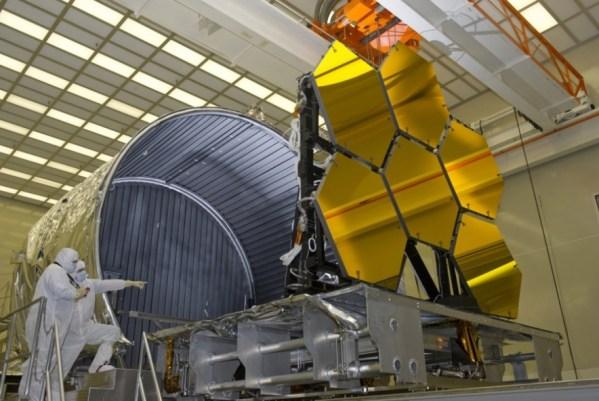 O James Webb, que deve custar 8 bilhões de dólares, será lançado em outubro de 2018. (Foto: NASA)
