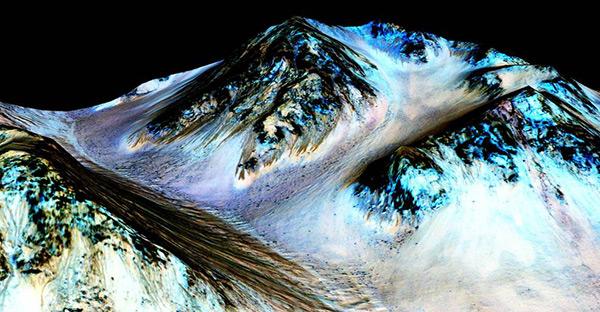Cratera Garni em Marte