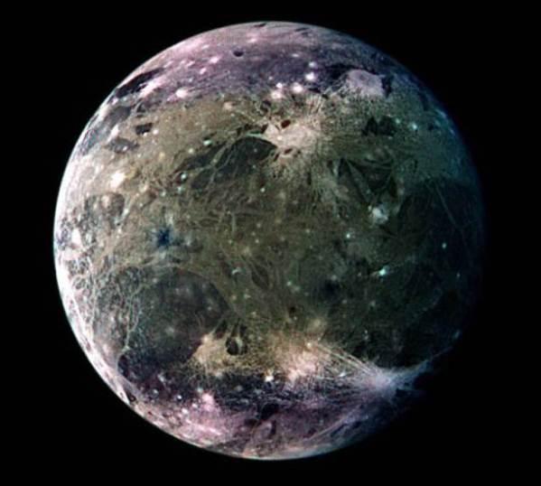 Ganímedes, uma das luas de Júpiter