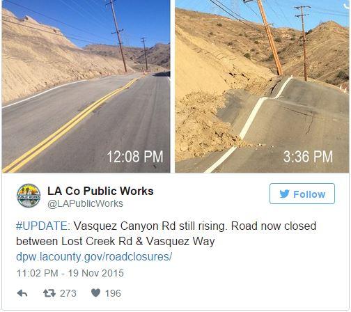 Estrada deformada na Califórnia