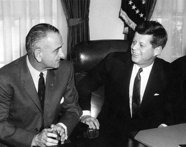 Kennedy e Lyndon Johnson