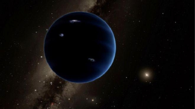 Simulação de computador indica como seria o novo planeta, que teria dez vezes a massa da Terra