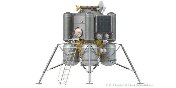 O futuro módulo lunar russo. Só se espera que ele tenha um futuro.