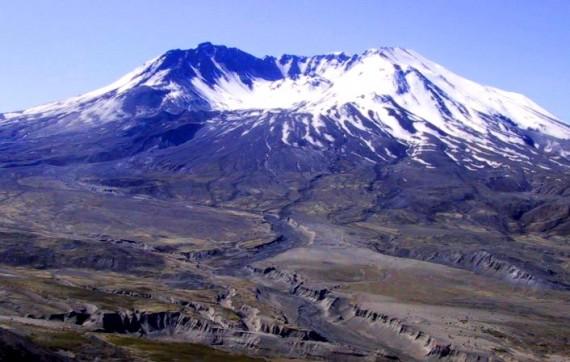 Monte Santa Helena, devastado.