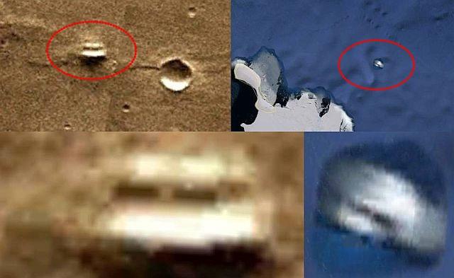 Objetos similares são encontrados em Marte e na Antártica 1
