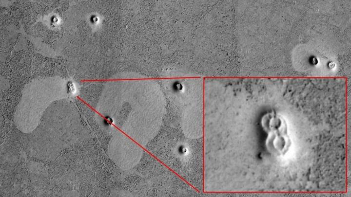 ruínas na superfície de Marte