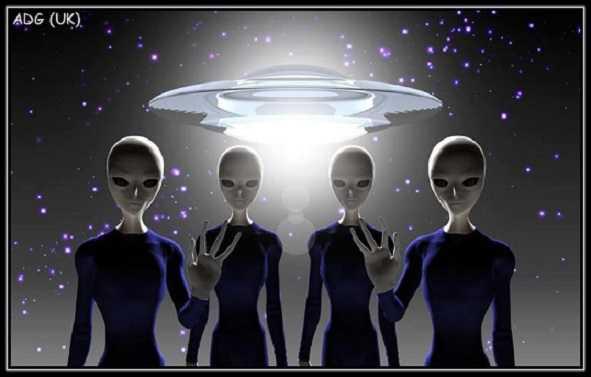os alienígenas estão aqui para ajudar