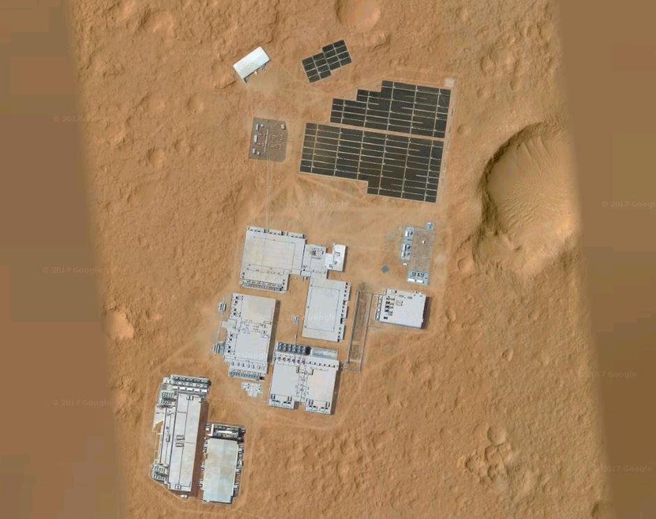 Estruturas artificiais em Marte