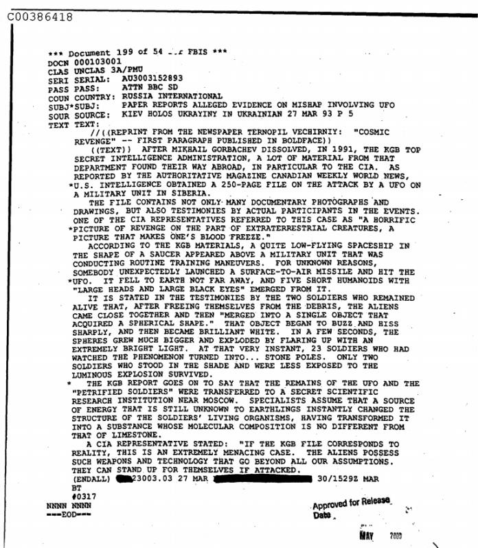 relatório da CIA