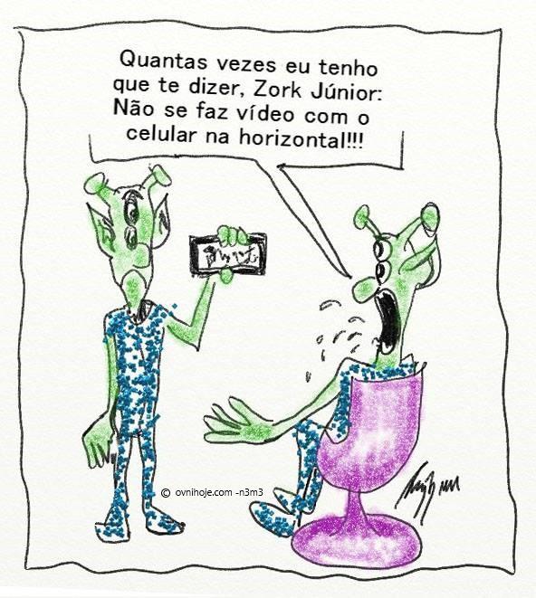 filmar um OVNI com seu celular