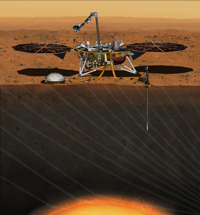 A próxima missão da NASA a Marte em 2018 irá perfurar o solo do Planeta Vermelho 1
