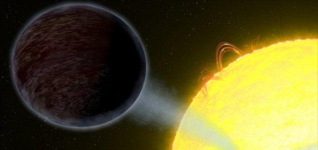exoplaneta mais escuro do que asfalto