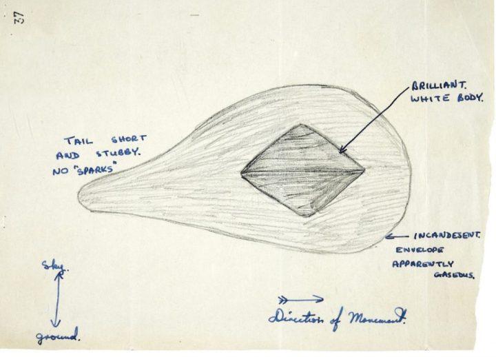 Desenhos de OVNIs são liberados pelo Ministério da Defesa do Reino Unido 4
