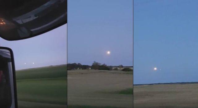 Canadense filma globo de luz no céu