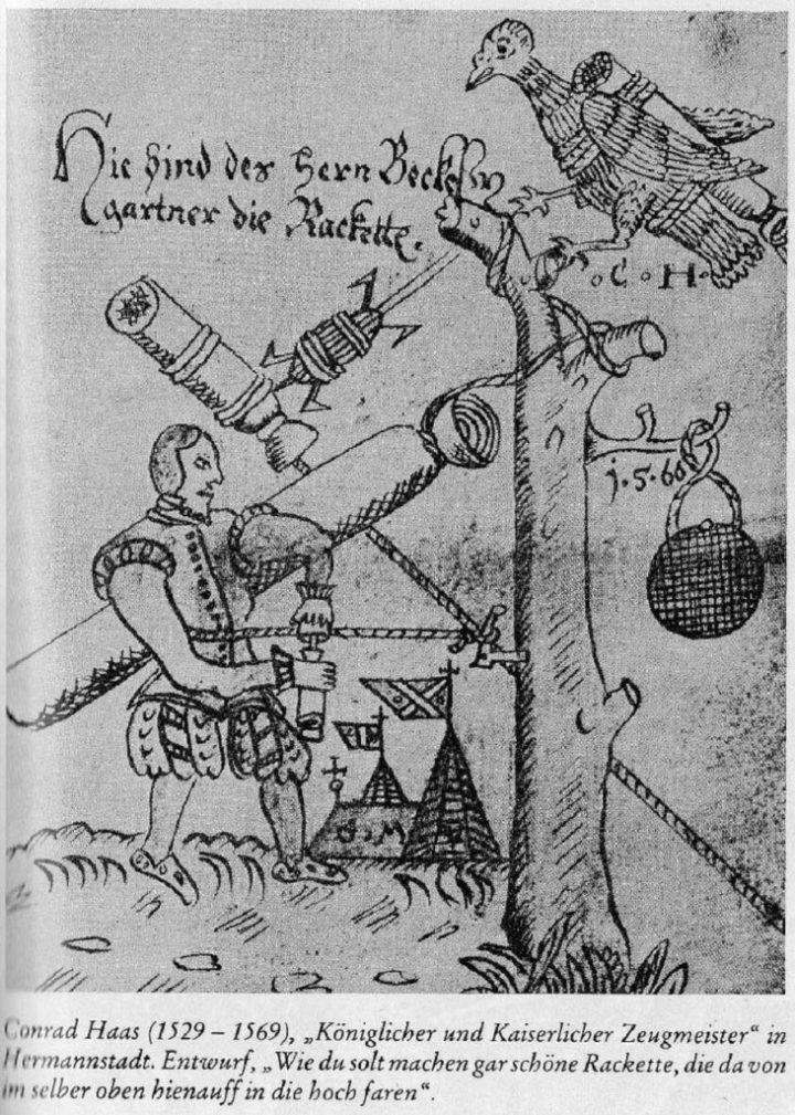Manuscrito Sibiu, de 500 anos, já mencionava a construção de foguetes de múltiplos estágios 2