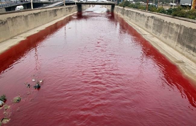 rios estão ficando vermelhos