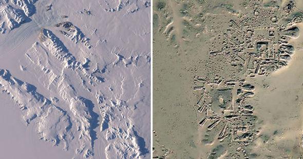 Estruturas artificiais são reveladas na Antártica, após gelo derreter 1