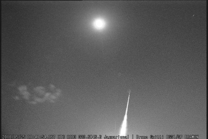 Passagem de meteoro causa tremor de terra
