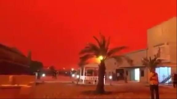Céu fica vermelho como sangue no Oriente Médio, despertando temores do Apocalipse 1