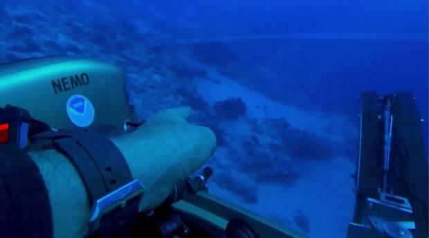 nave alienígena no Triângulo das Bermudas