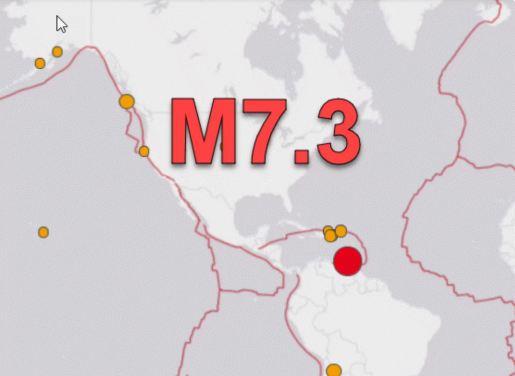 Terremoto de magnitude 7,3 atinge costa da Venezuela