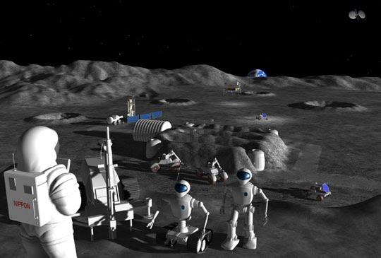 Empresas japonesas planejam construir colônias na Lua