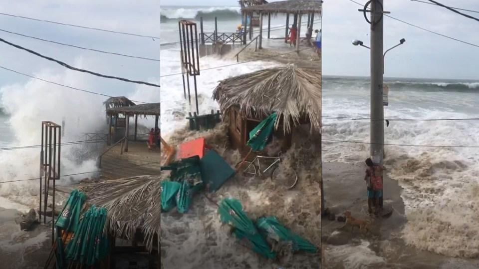 Enormes ondas inesperadamente atingem as costas do Peru e de Cuba