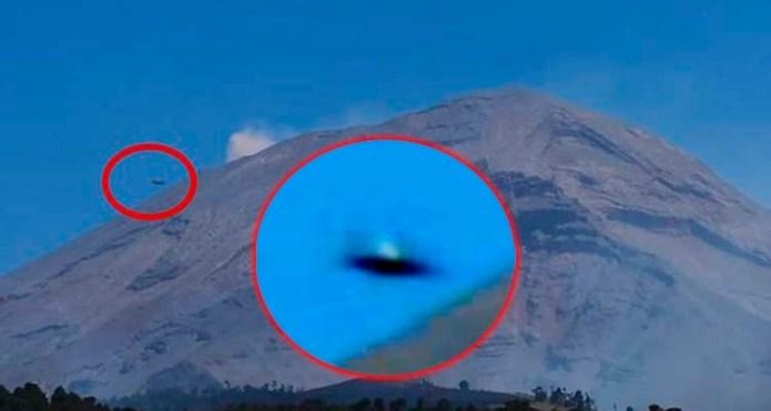 OVNI é fotografado ao lado do vulcão Popocatéptl