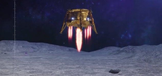 sonda não tripulada de Israel cai na Lua