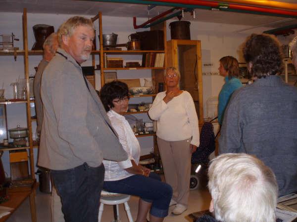 Besøk på sykehusmuseet. (Helge Skland, Ingrid Koland, Reidun Braathen