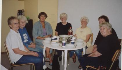 Deltakerne fra venstre: Helga Kristiansen (Bjerland), Solveig Sangesland, Brit Håverstad, Torgunn Ilebekk (kursleder), Anne Lise Eidså, Liv Marta Aarvoll, Gunvor Aarvoll