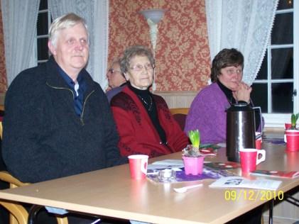 Roald, hans svigermor og Lillian Ilebekk