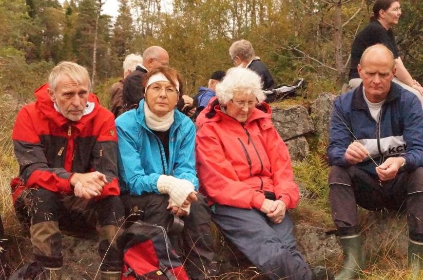 Nok et familiebilde: Ole Per Strædet, Åshild Sangesland, Solveig Sangesland, Terje Sangesland.