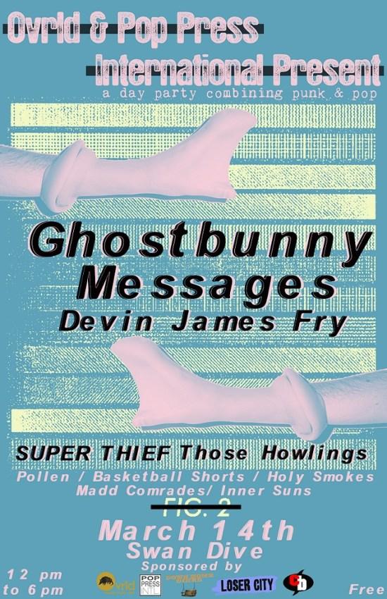 Ovrld Swan Dive Pop Press International Ghostbunny Messages Devin James Fry