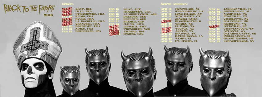 Ghost Black to the Future tour