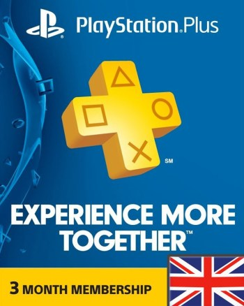 3 Month PS Plus Region 2 (UK)